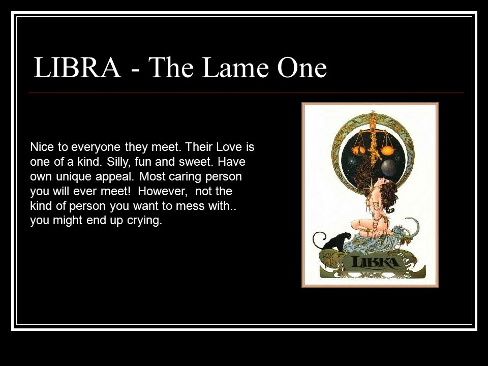 LIBRA - The Lame One