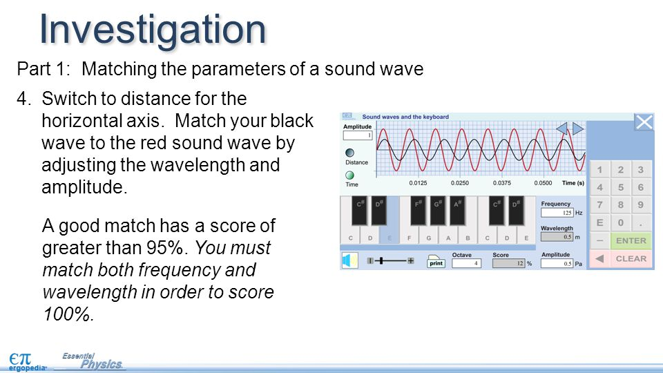 Investigation Part 1: Matching the parameters of a sound wave