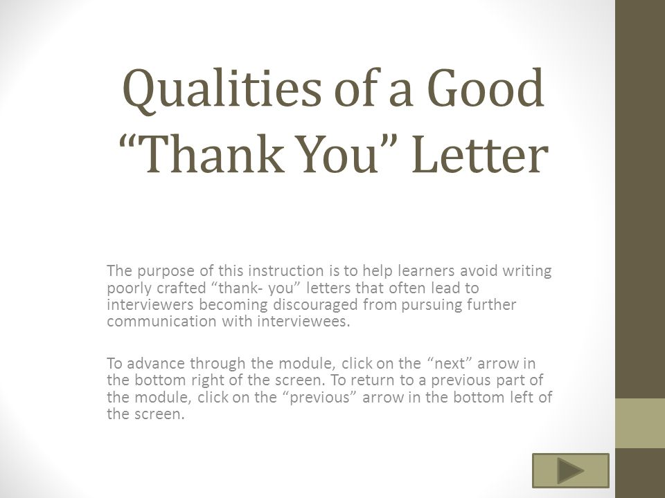Qualities Of A Good Thank You Letter  Ppt Video Online Download