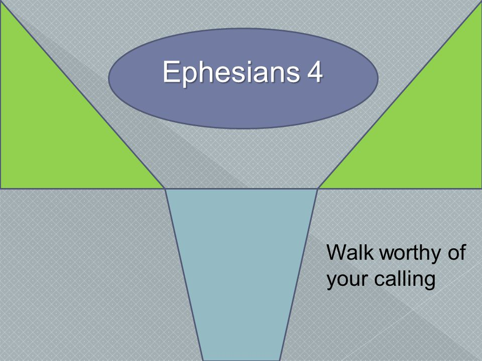 Ephesians 4 Walk worthy of your calling