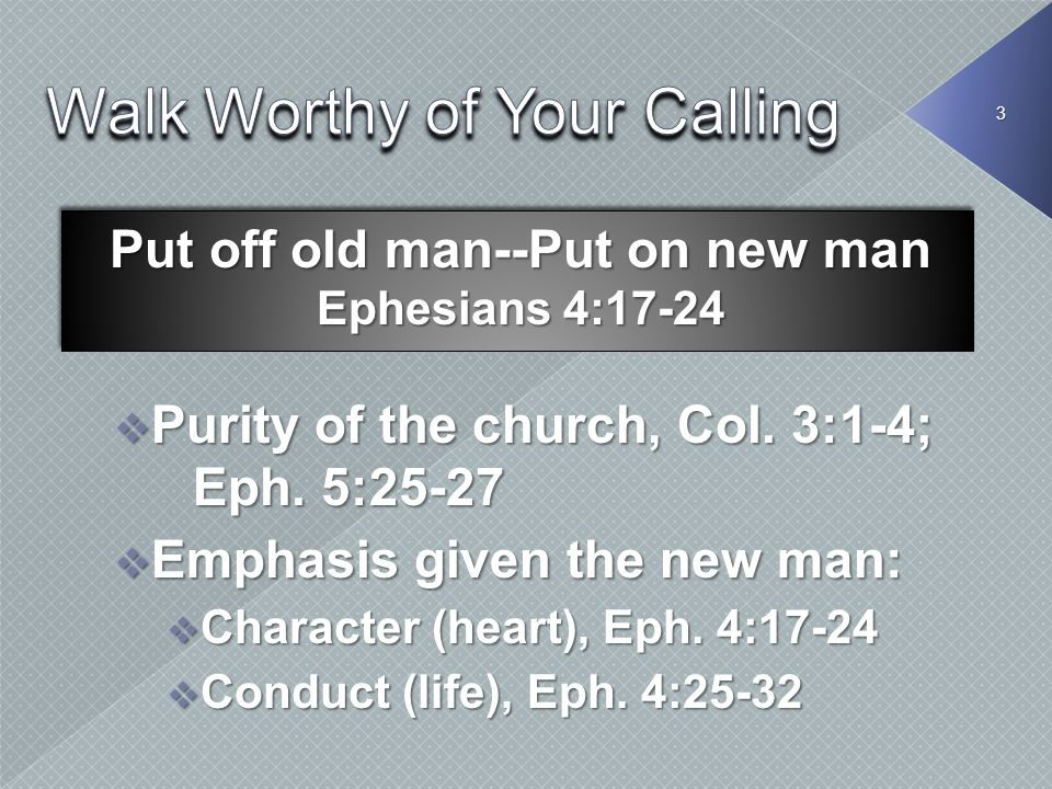 Walk Worthy of Your Calling