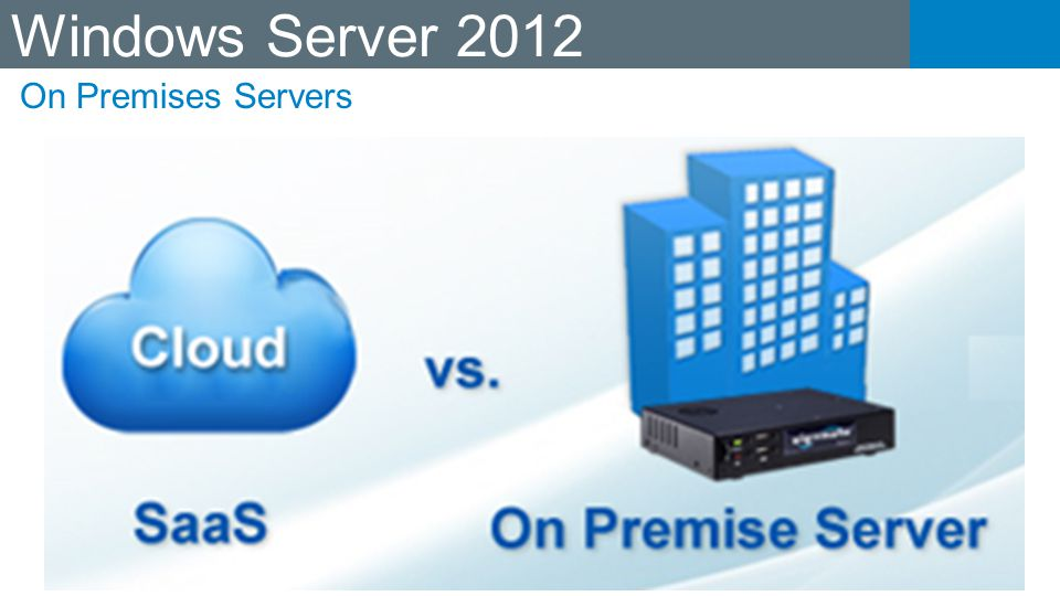 Windows Server 2012 On Premises Servers