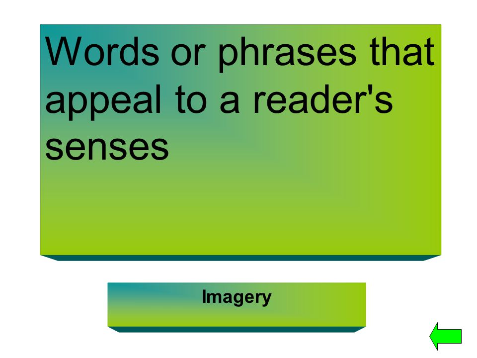 Words or phrases that appeal to a reader s senses