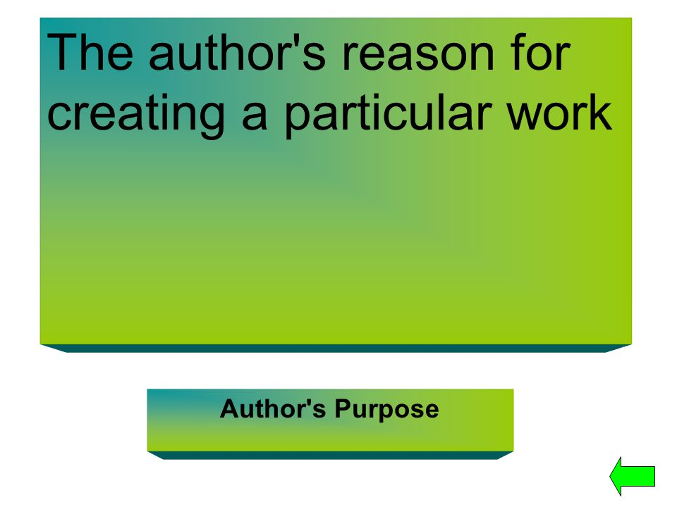 The author s reason for creating a particular work
