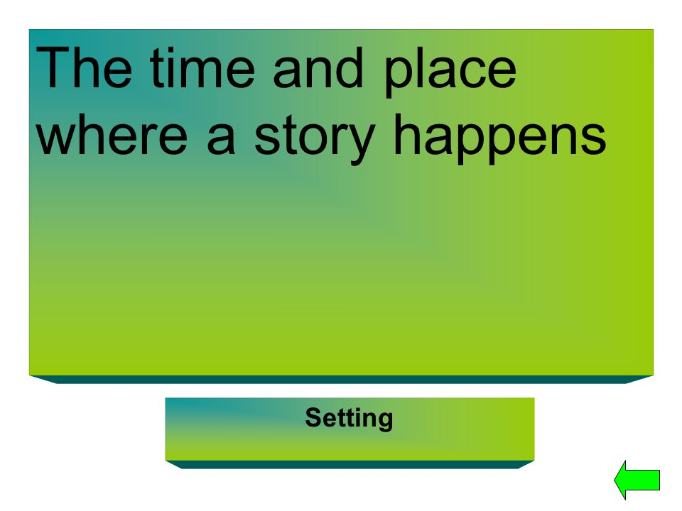 The time and place where a story happens