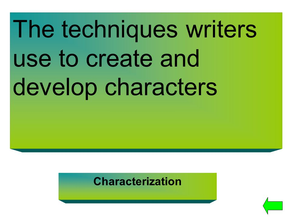 The techniques writers use to create and develop characters
