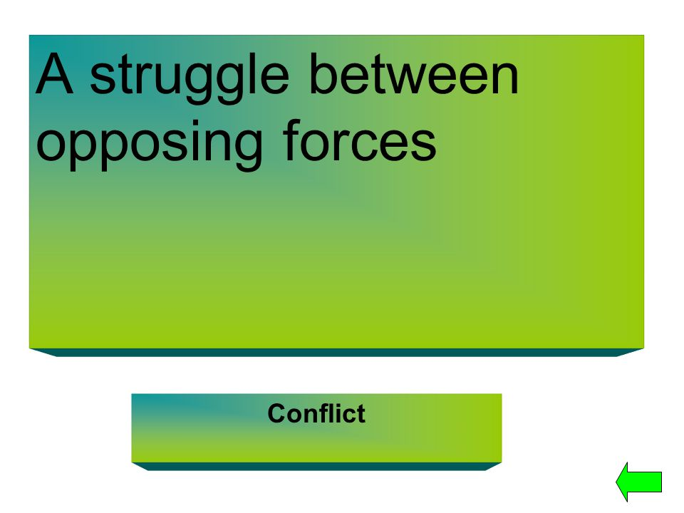 A struggle between opposing forces