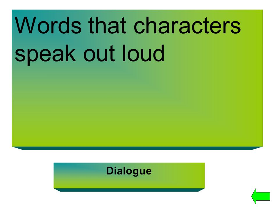 Words that characters speak out loud