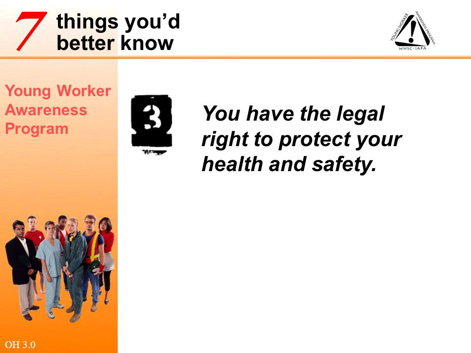 You have the legal right to protect your health and safety.