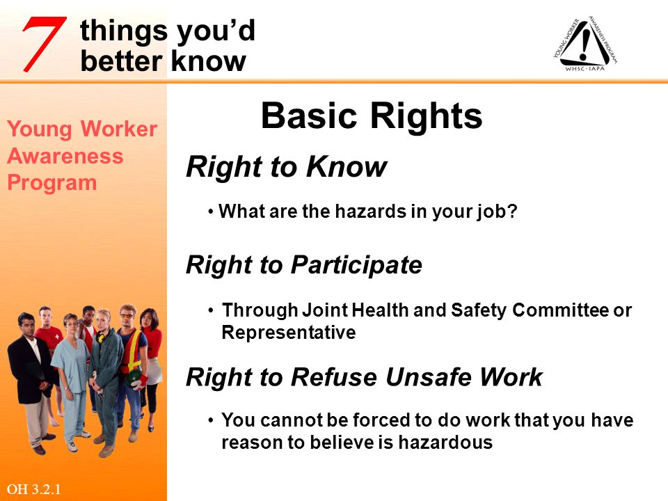Basic Rights Right to Know Right to Participate