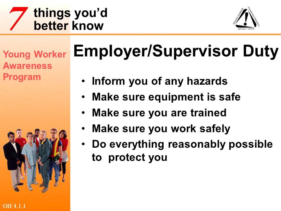 Employer/Supervisor Duty