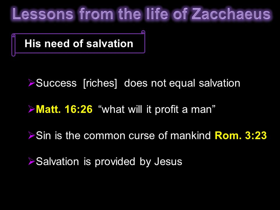 Lessons from the life of Zacchaeus