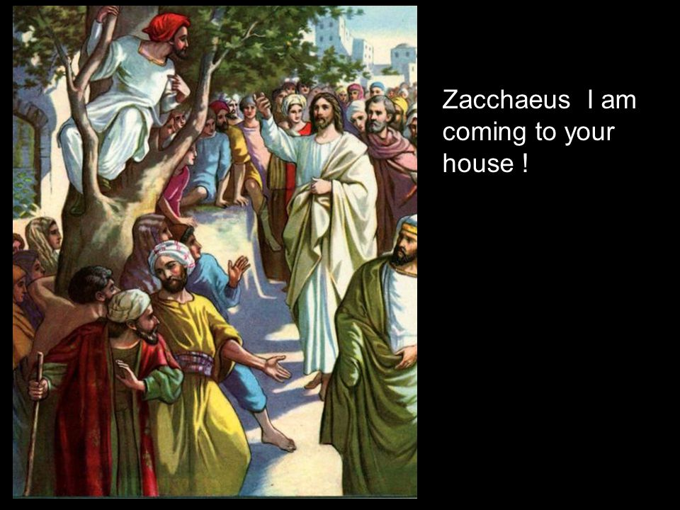 Zacchaeus I am coming to your house !