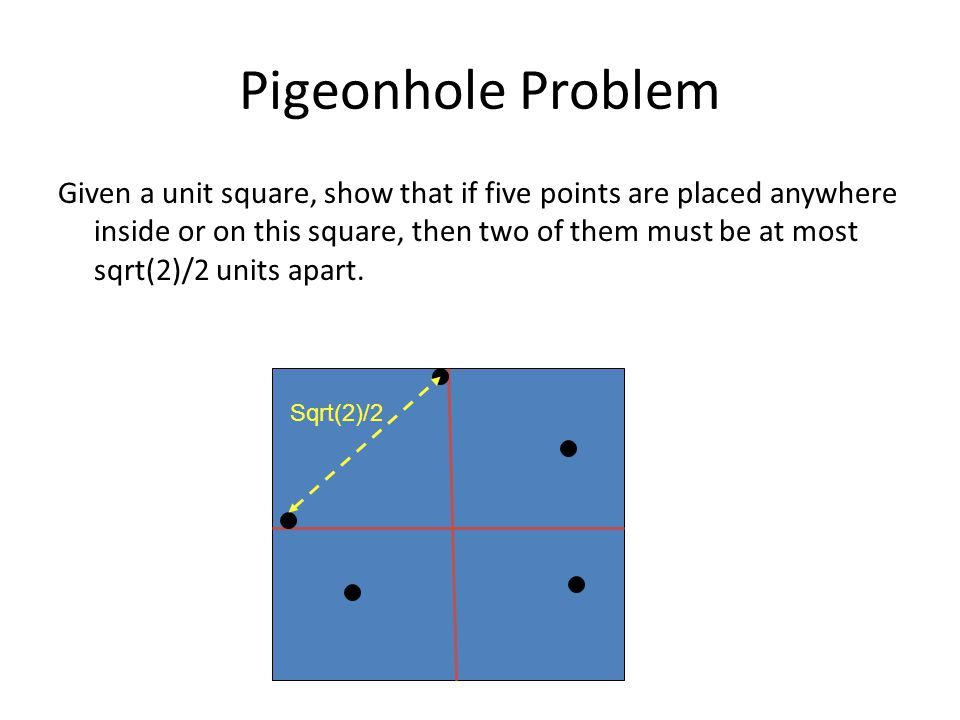 Pigeonhole Problem