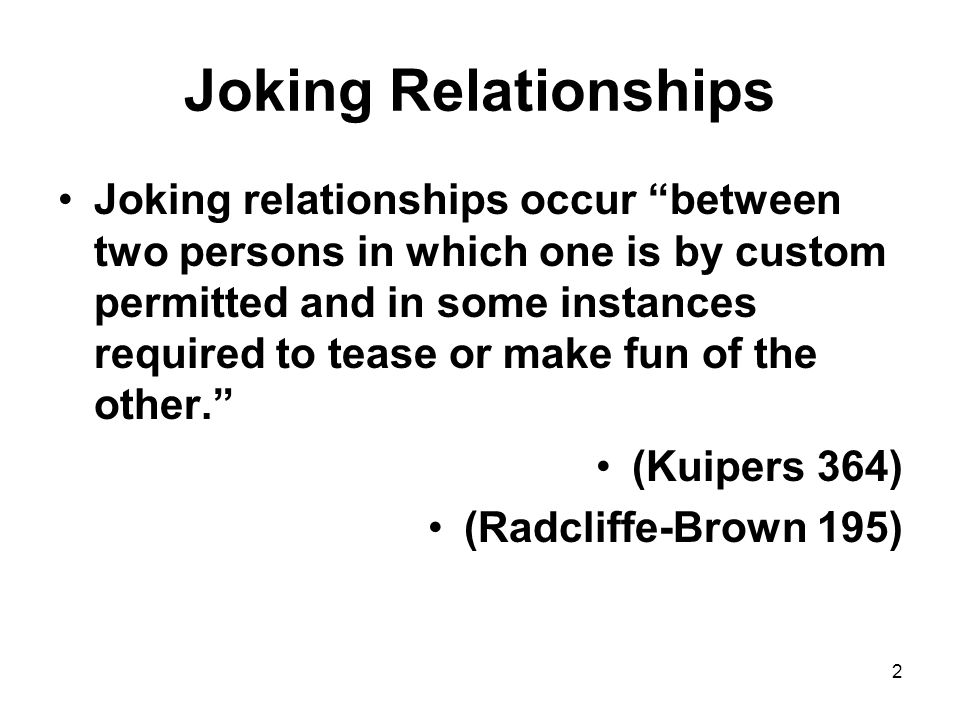 Joking Relationships