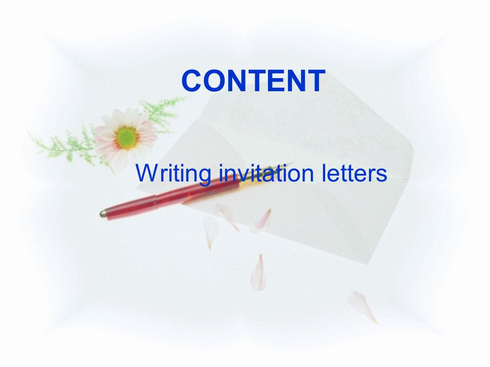 Writing invitation letters