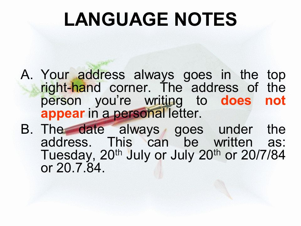 LANGUAGE NOTES