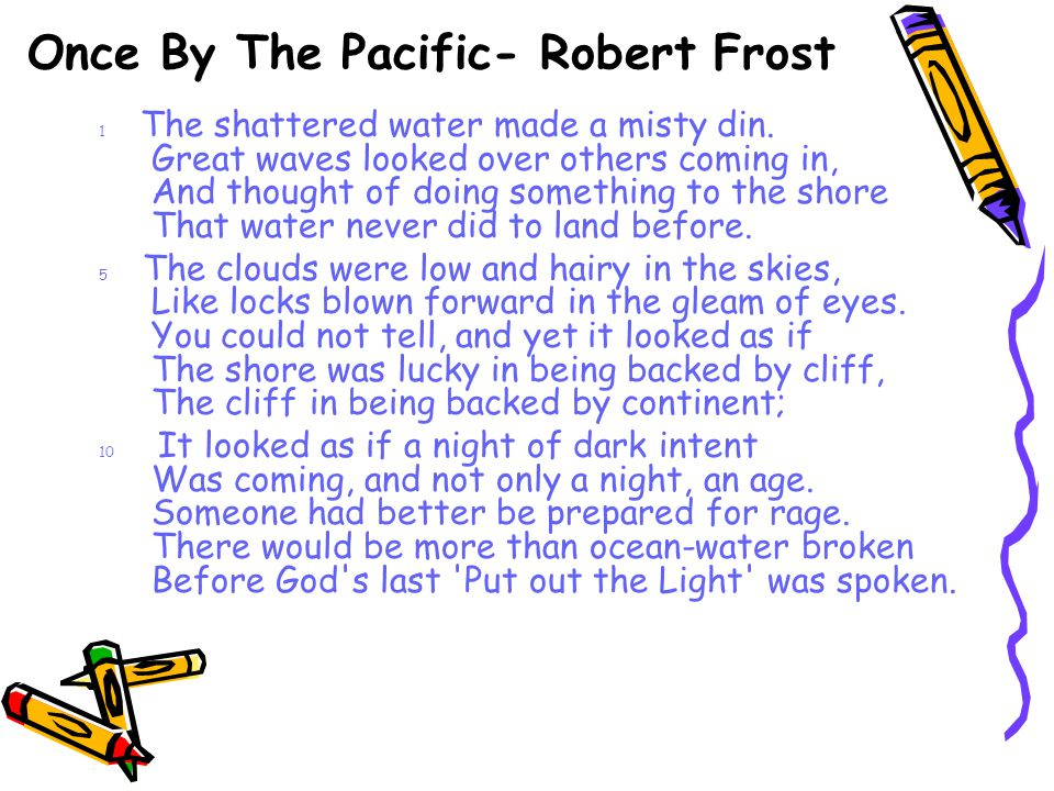 Once By The Pacific- Robert Frost