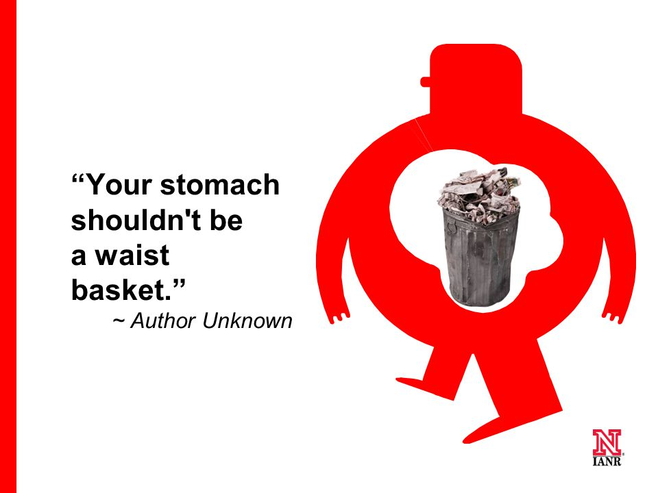 Your stomach shouldn t be a waist basket.