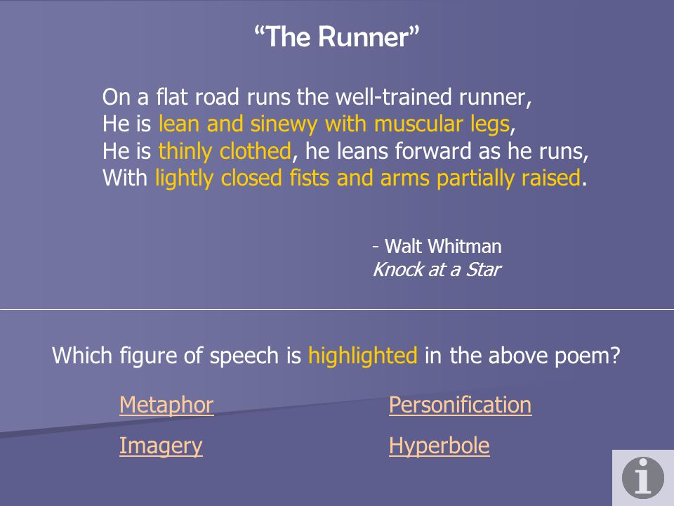 The Runner On a flat road runs the well-trained runner,