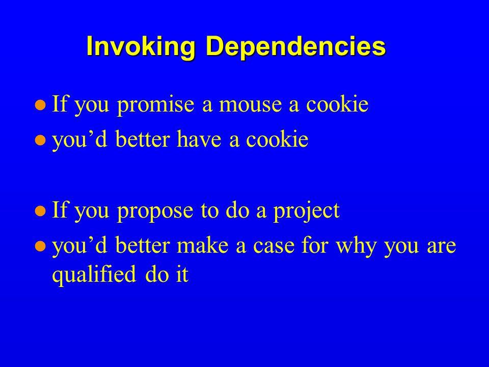 Invoking Dependencies