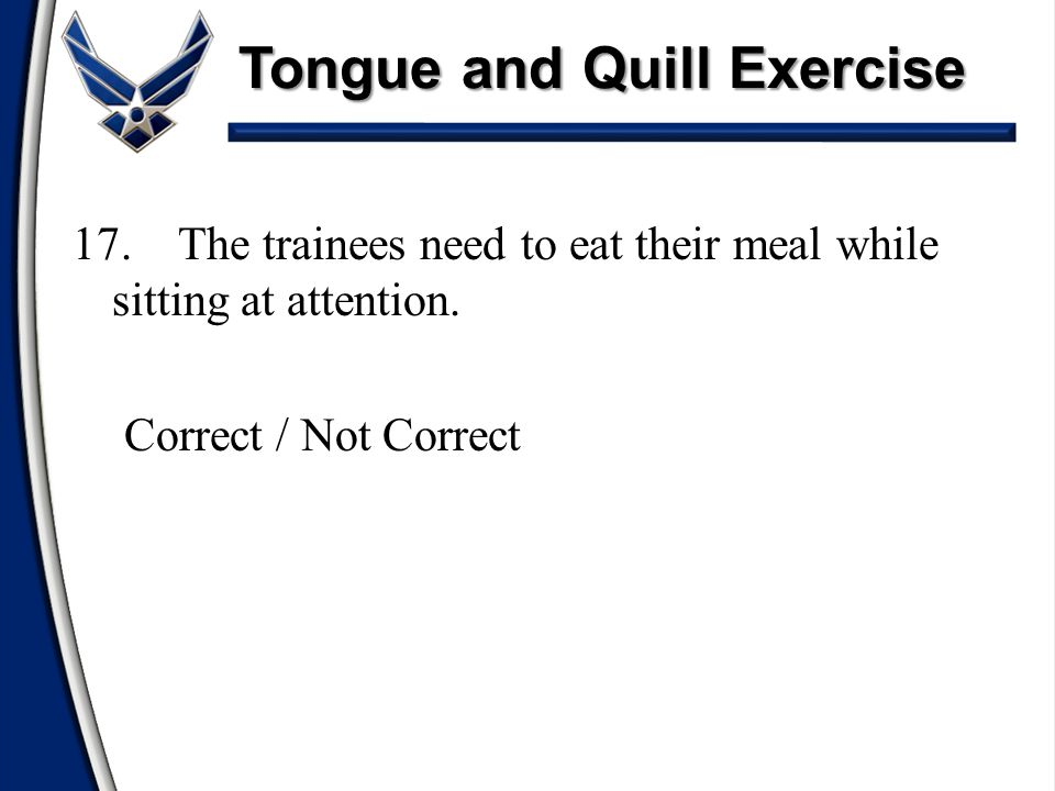 Tongue and Quill Exercise