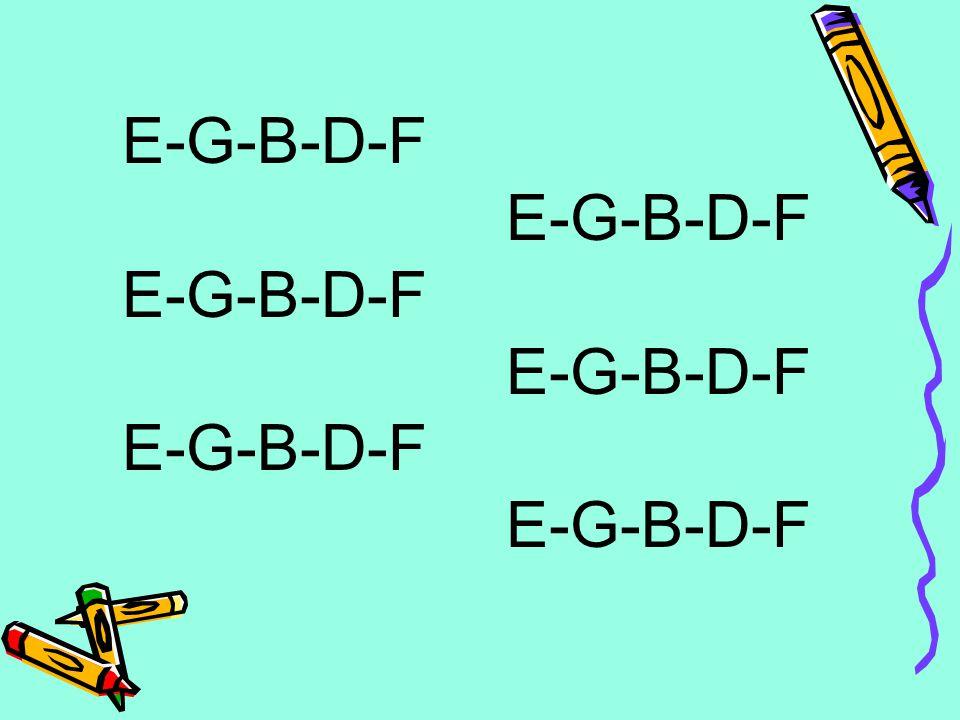 E-G-B-D-F