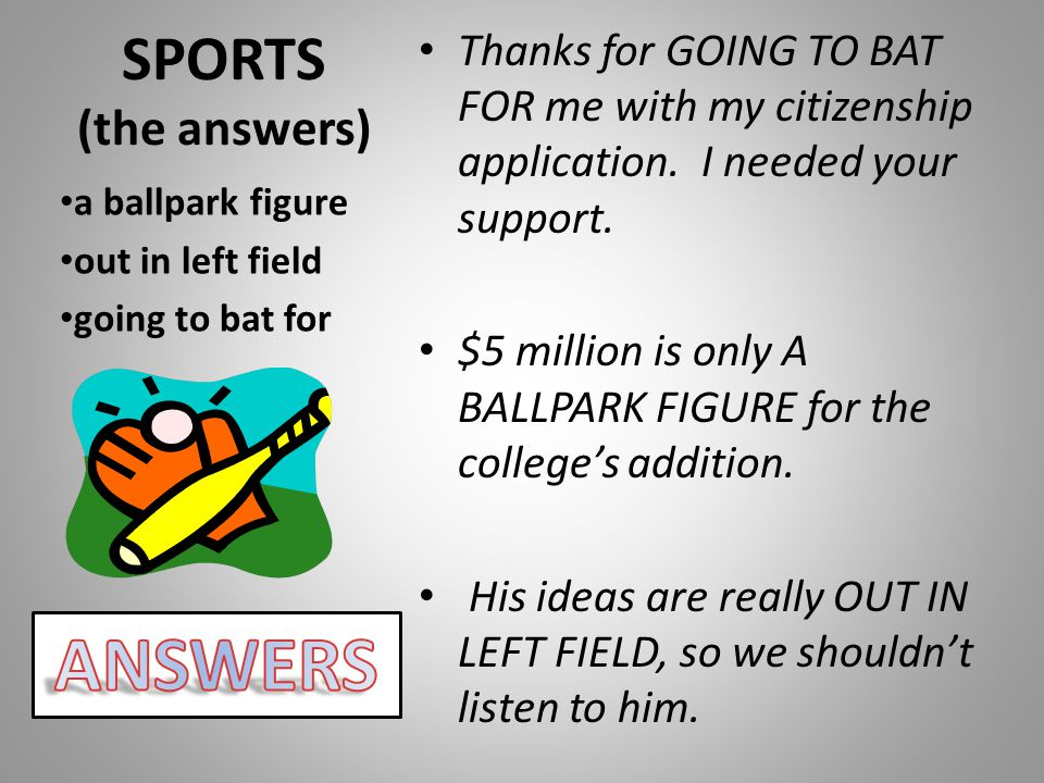ANSWERS SPORTS (the answers)