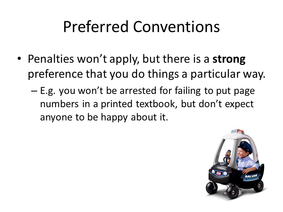 Preferred Conventions