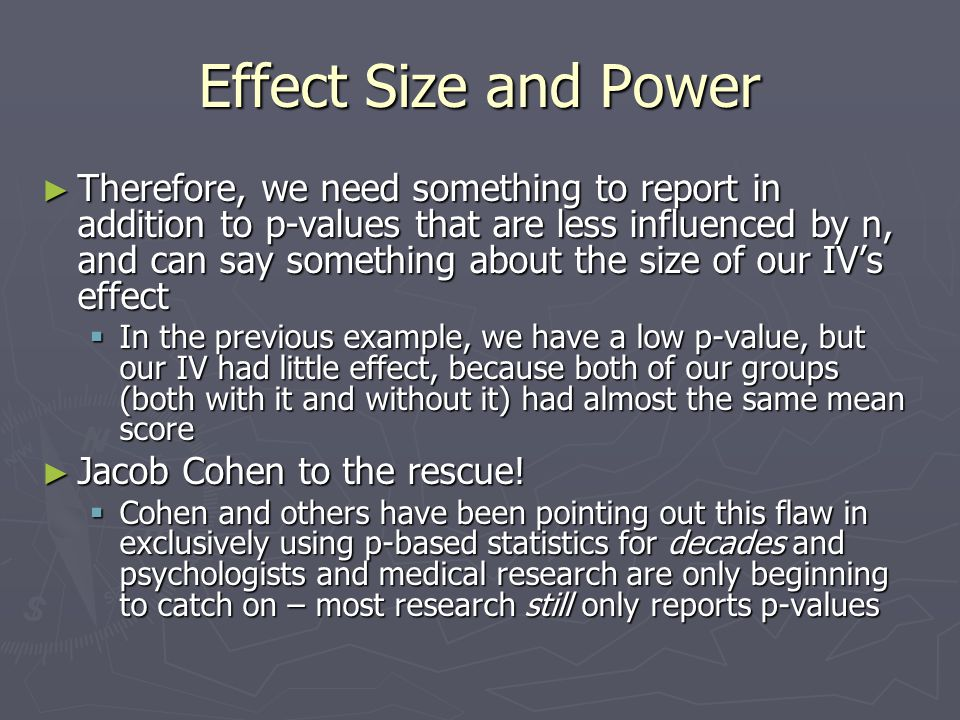 Effect Size and Power