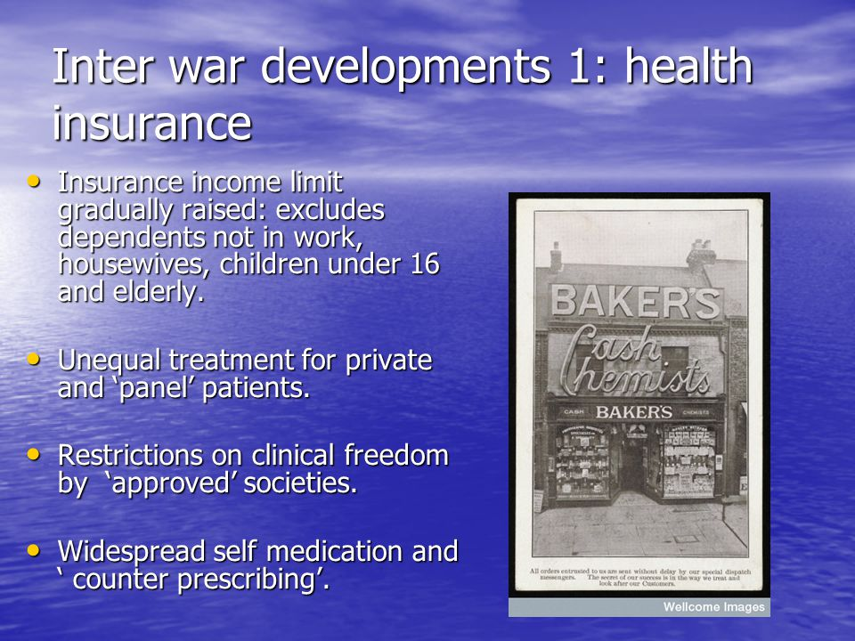 Inter war developments 1: health insurance