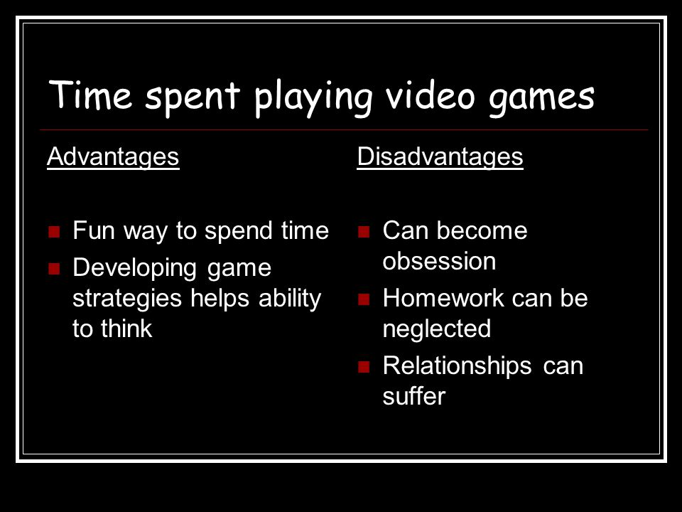 Time spent playing video games