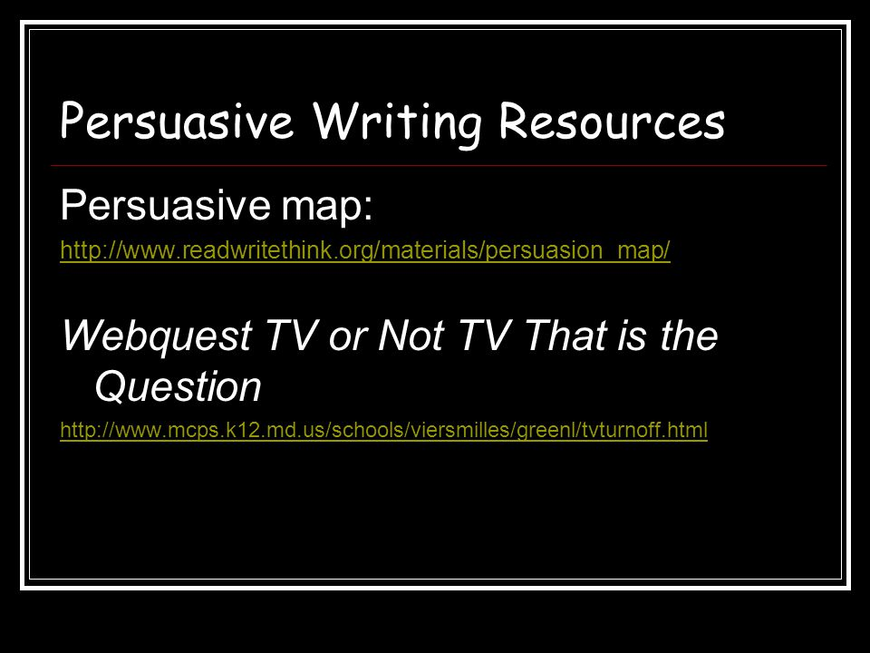 Persuasive Writing Resources