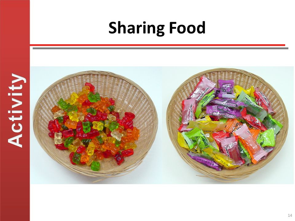 Activity Sharing Food