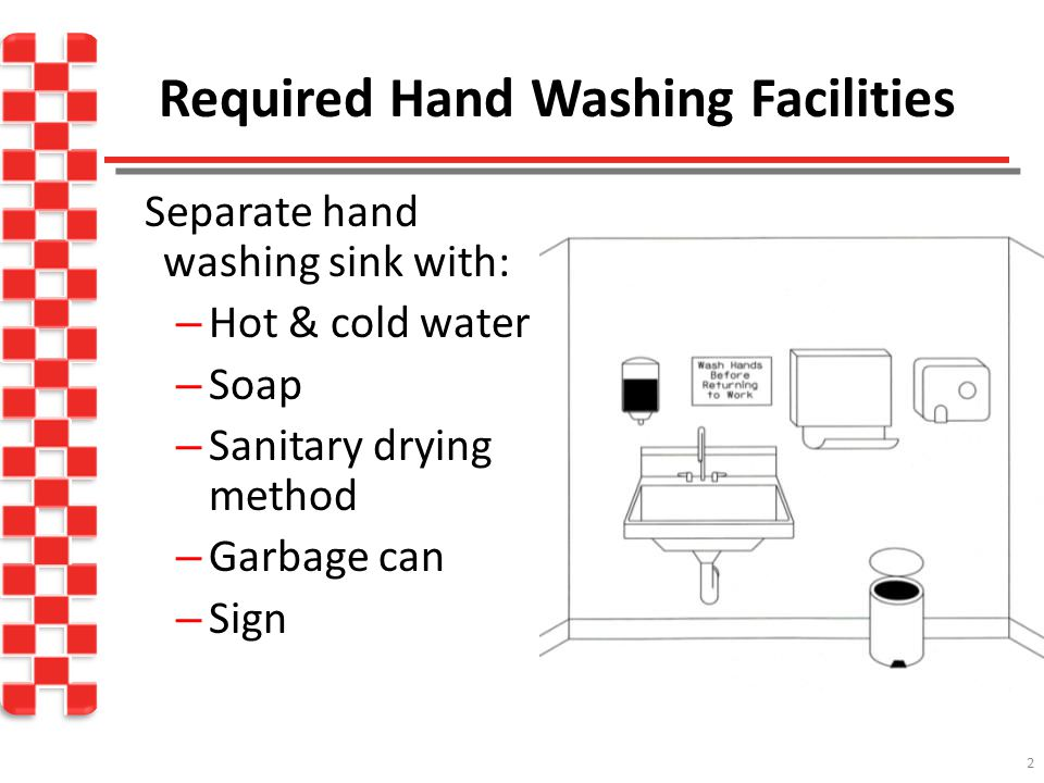 Required Hand Washing Facilities