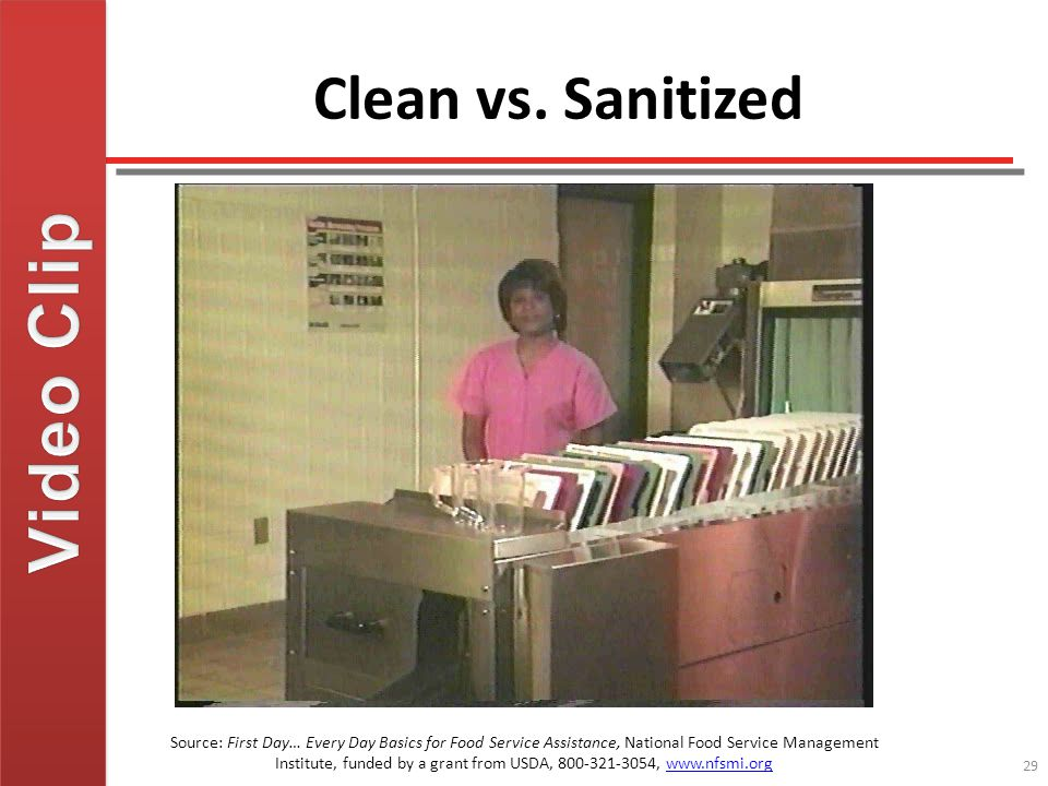 Video Clip Clean vs. Sanitized