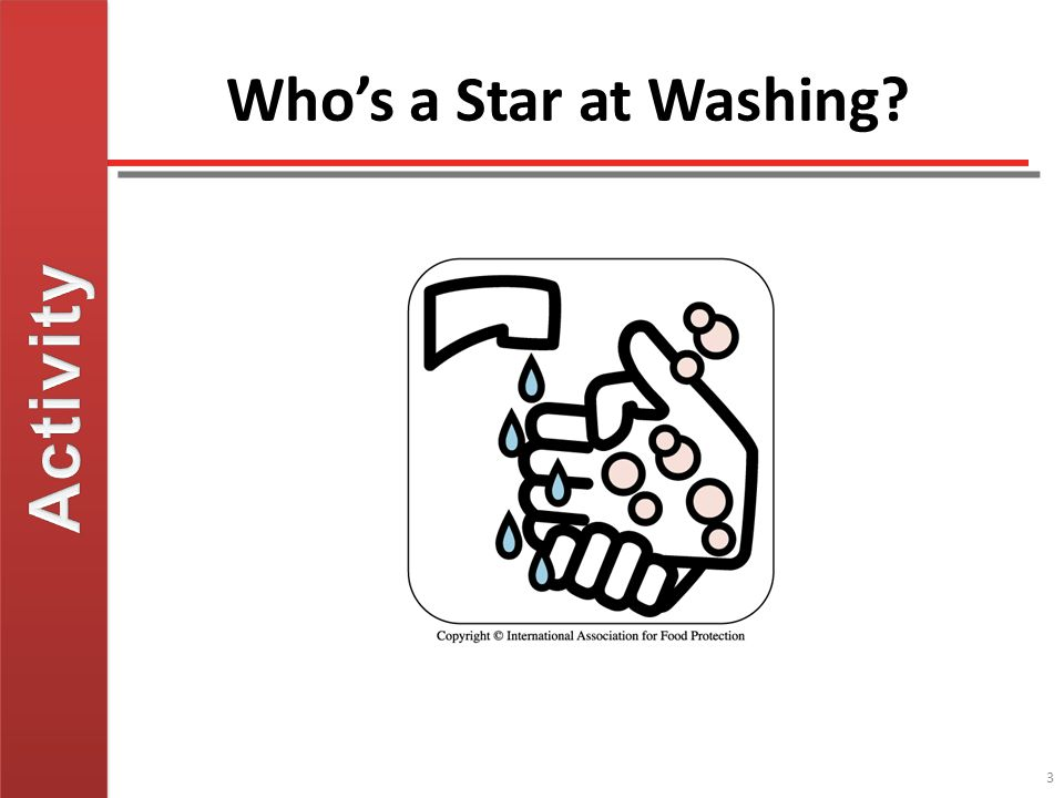 Activity Who's a Star at Washing