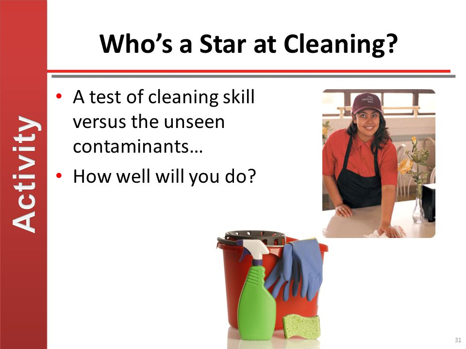 Who's a Star at Cleaning