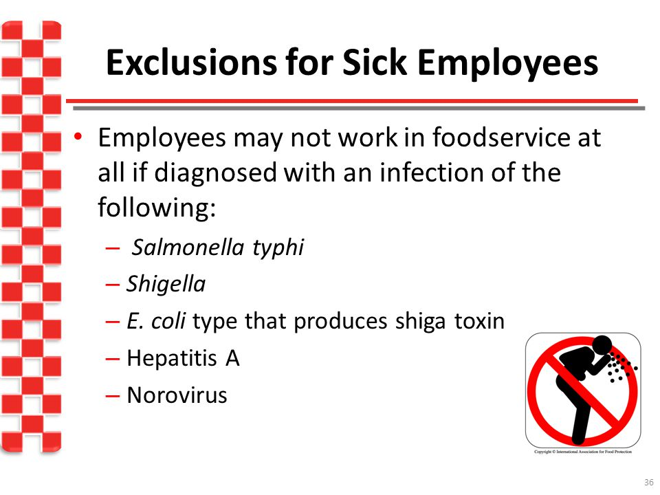 Exclusions for Sick Employees