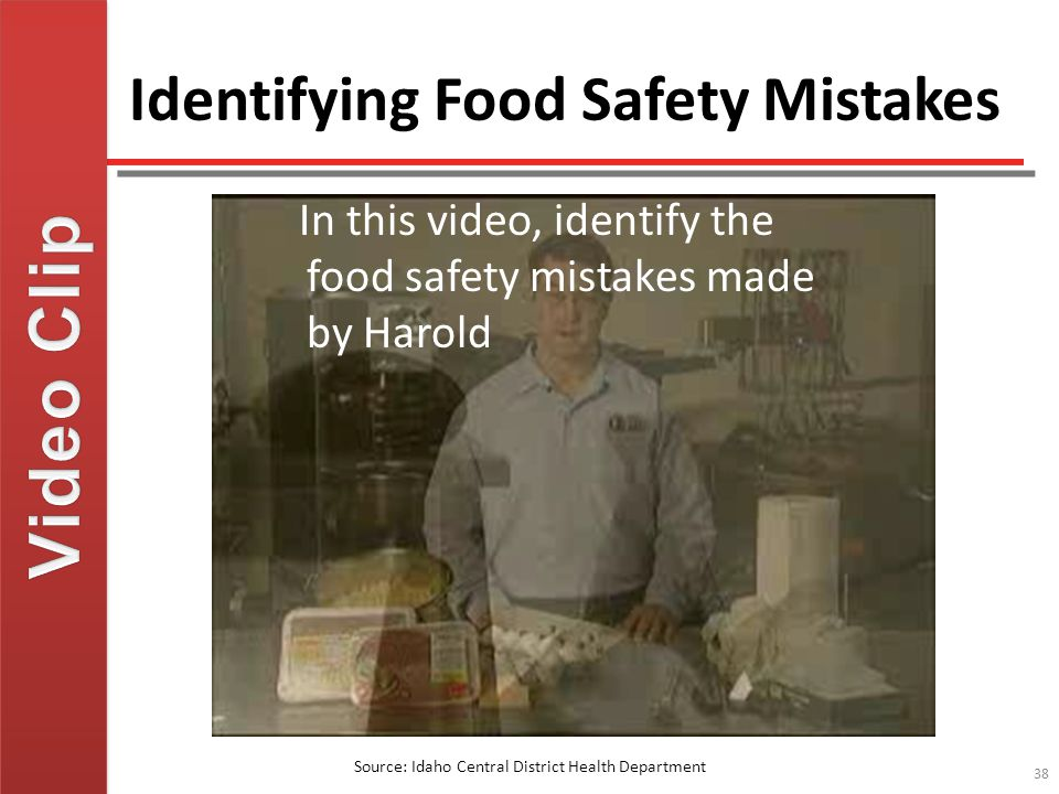 Identifying Food Safety Mistakes