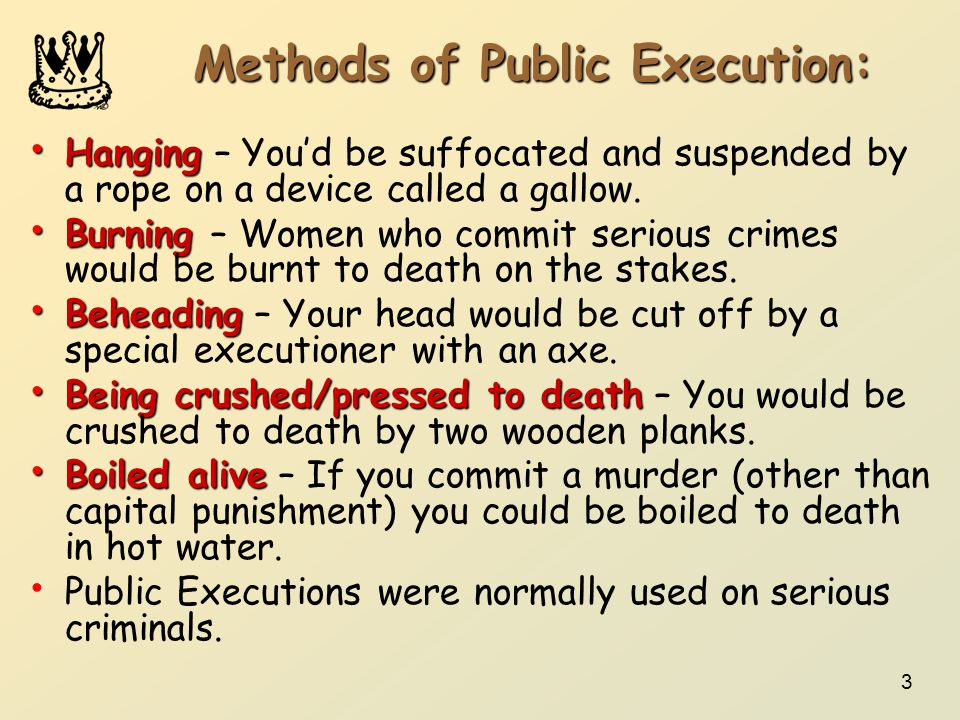 Methods of Public Execution: