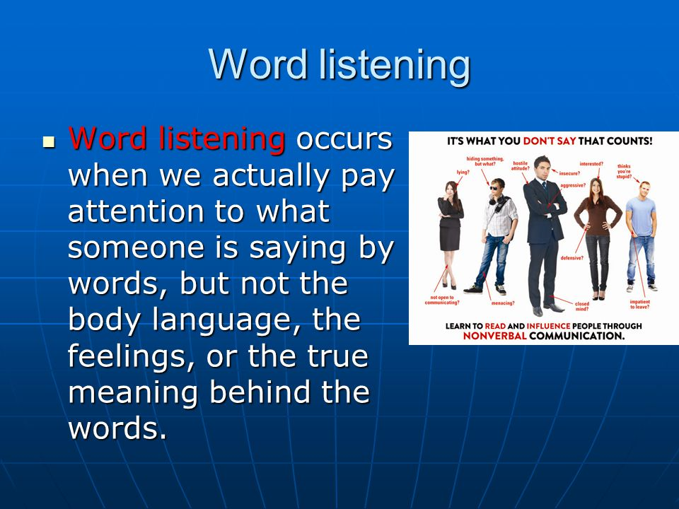 Word listening