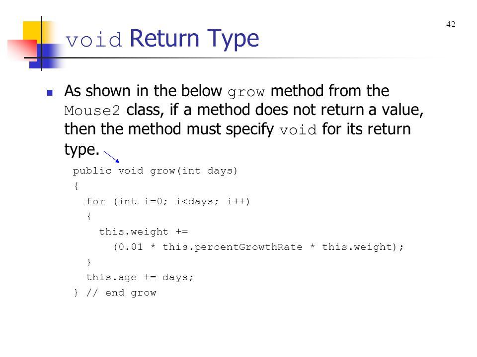 void Return Type 42.
