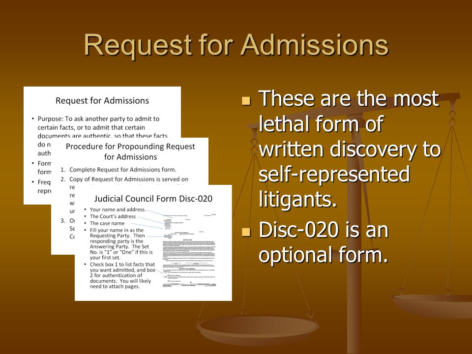 Request for Admissions