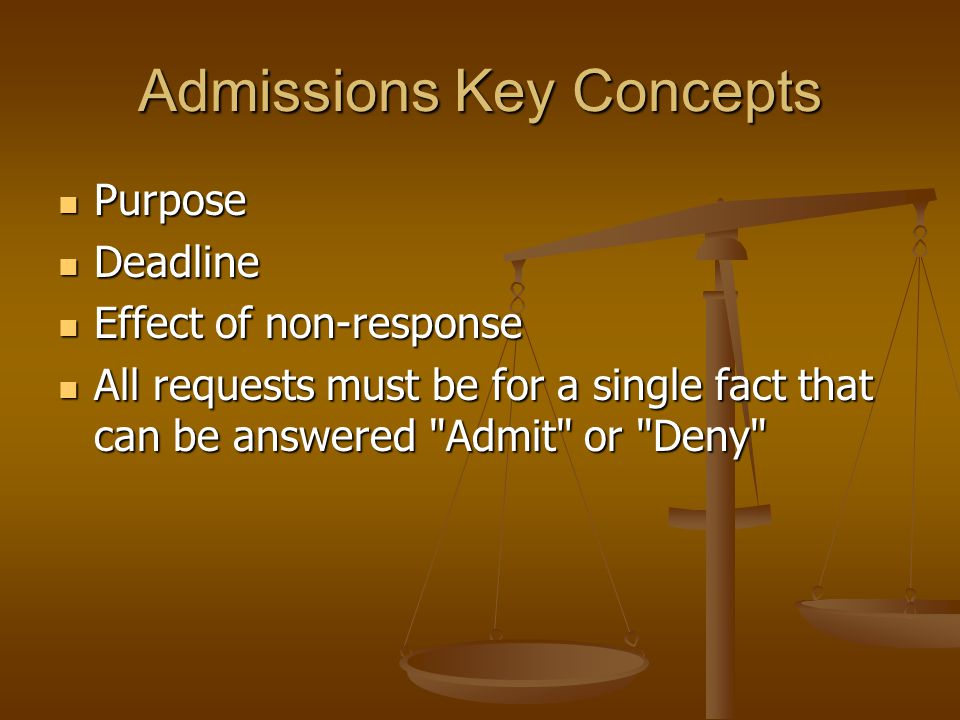 Admissions Key Concepts