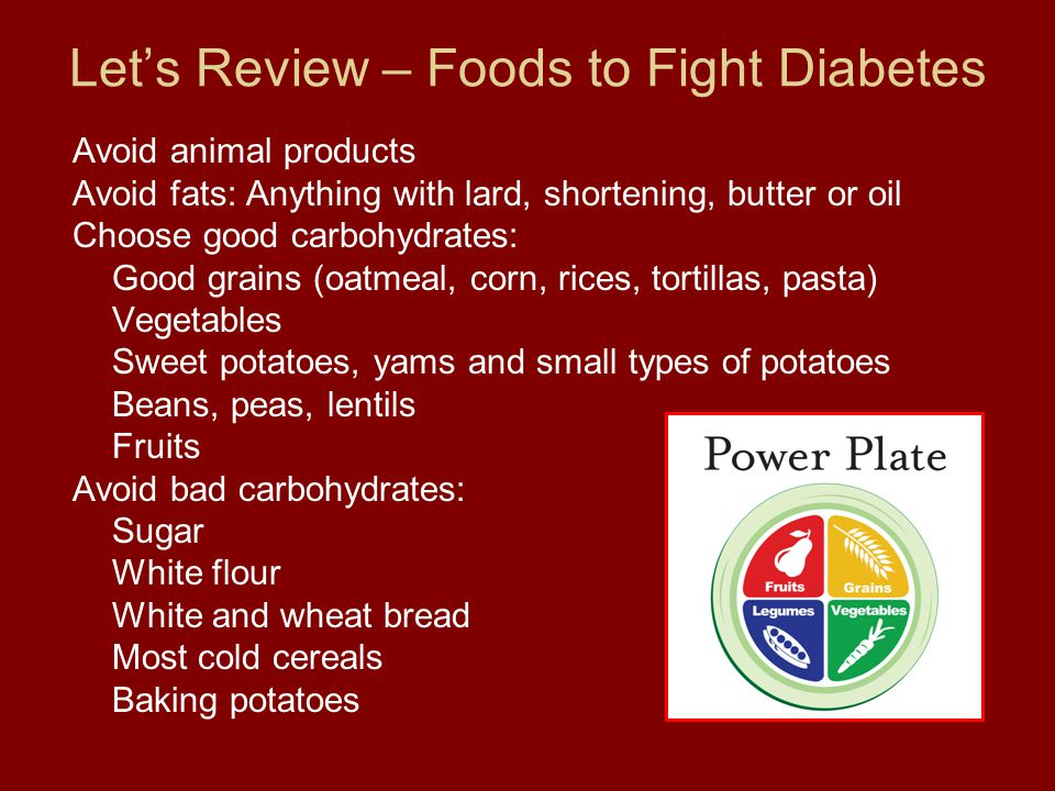 Let's Review – Foods to Fight Diabetes