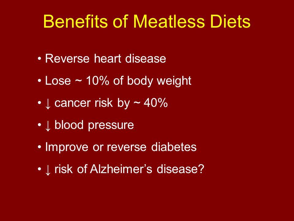 Benefits of Meatless Diets