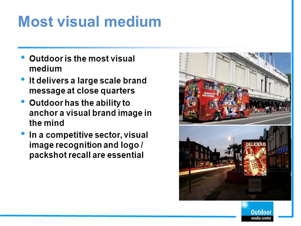 Most visual medium Outdoor is the most visual medium