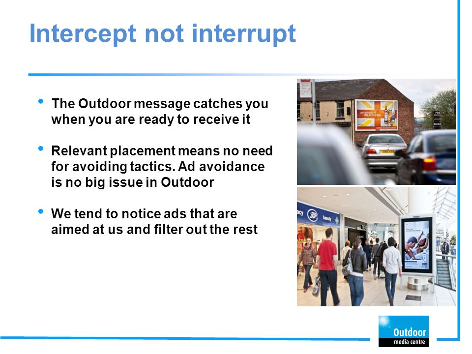 Intercept not interrupt