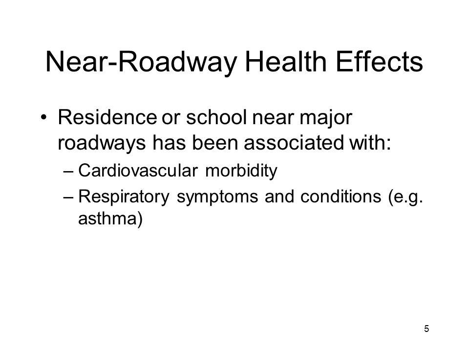 Near-Roadway Health Effects
